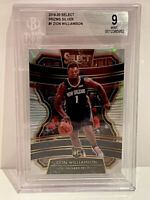ZION WILLIAMSON ROOKIE PANINI SELECT SILVER PRIZM RC BGS 9 MINT 2019-2020