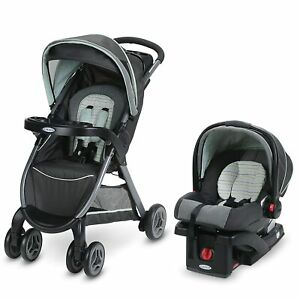 Graco FastAction Fold Click Connect Travel System Bennet w/ Snugride 30 Car Seat