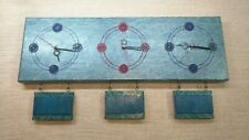Artisan Hand Crafted Time Zone Clock 20cm x 60cm