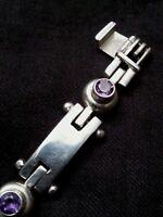 Vintage ladies sterling silver & amethyst bracelet, 33 grams