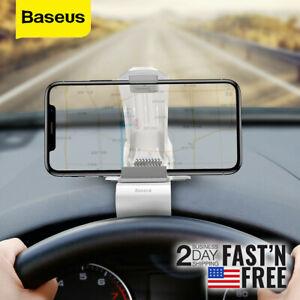 Baseus Auto Dashboard Mobile Phone Bracket Car Smart Phone Holder GPS Clip Mount