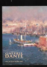 Catalogue vente aux enchères Galerie Dante Nice Mes Palloc Courchet Fede Japhet