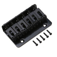 Fixed Hardtail 6 String Bridge Top Load For Electric Guitar Parts Black 65 mm