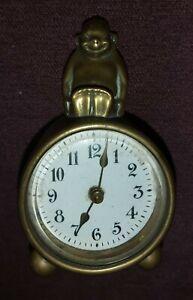 Very rare Billiken Brass Clock bun feet US patent no Oct6 1908 RGM Collectable