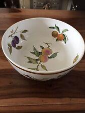 "Royal Worcester Evesham Gold Large Fruit Bowl 10"" Diameter, 4"" Deep - VGC"