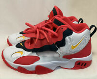 Kids Nike Air Speed Turf White/Red Orbit Big Youth Shoes BQ9632-102 Size 4Y