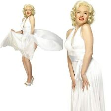 Marilyn Monroe Costume White With Halterneck Dress Cost-w