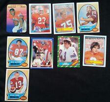 Vintage 1980's & 1990's Denver Broncos Trading cards Lot 9