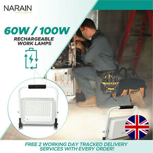 Narain Solar Rechargeable LED Work Lights - Battery Included - 6 Hours Work Time