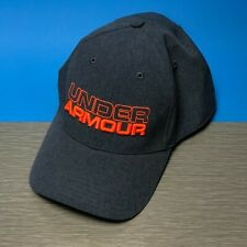 Under Armour Mens Hat Blue Gray Heathered XL/2XL Neon Spellout