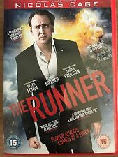 Nicolas Cage Connie Nielsen Sarah Paulson THE RUNNER ~ 2014 Thriller | UK DVD