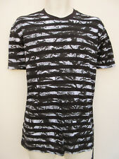 Diesel BNWT - Black /White Reptile Striped Pattern Short Sleeved T shirt - sz XS