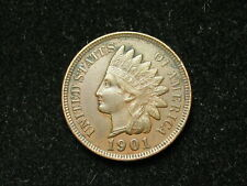SUMMER SALE!! XF 1901 INDIAN HEAD CENT PENNY w/ DIAMONDS & FULL LIBERTY #79s