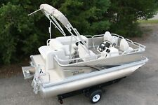 Little pontoon boat sale-New 16 Ft pontoon boat- 25 hp and trailer