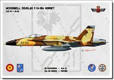 F-18A Hornet Aviation Art Spanish Air Force Ejército del Aire España Spain Print