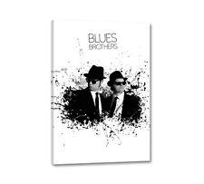 Blues Brothers Splash Art 90x60cm Canvas Picture on Stretcher CaroArt Mural