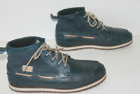 LACOSTE Boots Fourrées Homme Cuir Bleu Jean T 9.5 UK / 10.5 US / 44 FR  BE