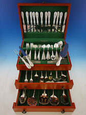 Rose by Stieff Sterling Silver Flatware Set for 12 Service 118 pieces Huge
