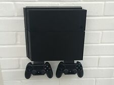 PS4 Wall Mount In Black Including Brackets For Controllers  - Not Slim Or Pro