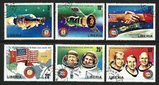 Liberia 1975 - Apollo Soyuz Space Mission (6) CTO - Complete Set