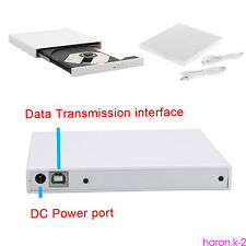 Slim External USB 2.0 DVD RW CD Writer Drive Burner Reader Player For Laptop HR1