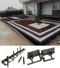 4m Garden Lawn Edge Flexible Border 4.5cm Height +12strong Pegs 23cm