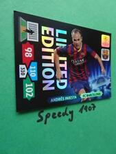 Champions League Iniesta Barcelona 13 14 limitiert limited Panini Adrenalyn