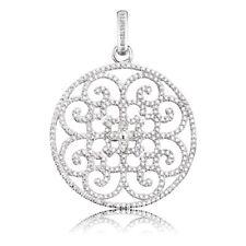 Engelsrufer Anhänger Ornament mit 340 weißen synth. Zirkonia Silber rhodiniert,