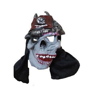 New Scary Skull Latex  Adult Halloween Mask Fancy Dress Costume Prank UK Stock