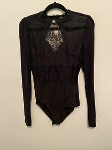 (3) Black Lace Body With Long Sleeves. Party Size LARGE... GIFTS for Ladies
