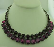 Sorrelli Pink Ruby Necklace NCW7ASPR antique silver tone