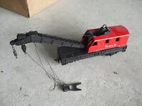 Vintage HO Scale Red Santa Fe Crane Car