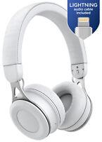 Wireless iPhone Headphones Lightning Connector On Ear Bluetooth Earphones White