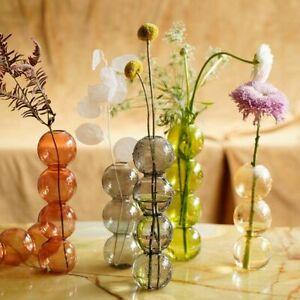 Bubble Glass Vase Crystal Ball Flower Arrangement Art Home Ware Home Decoration