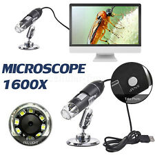 1600x 10mp Digital Usb Microscope Camera Endoscope Magnifier With Stand Biological