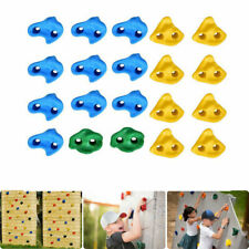 20 Pcs/Set Textured Climbing Holds Rock Wall Stones Holds Grip For Kid Sports Us
