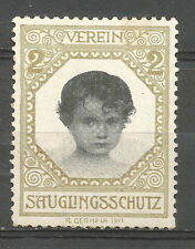 Austria Child Protection charity stamp/label