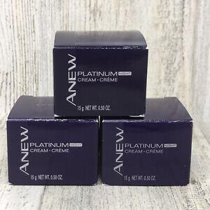 Lot of 3 Avon Anew Platinum NIGHT Cream 0.50 oz Travel Size