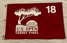 2008 U.S. Open Pin Flag; Torrey Pines, Won by Tiger Woods