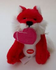 drwr red FOX kiss plush mini Valentine's Day heart smooch soft sounds love