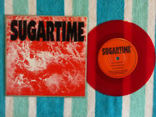 """SUGARTIME Awestruck 45 rpm 7"""" RED VINYL w/ PICTURE SLEEVE Simple Machines 1992"""