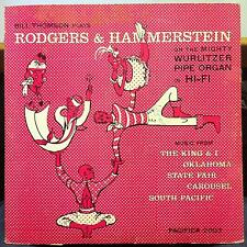 Bill Thomson - Plays Rodgers & Hammerstein LP VG+ P-2003 Bill Campbell Art