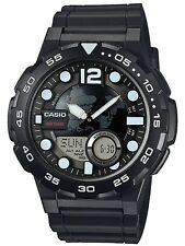 Casio Men's Quartz Diver Analog-Digital Black Resin Strap 52mm Watch AEQ-100W-1A