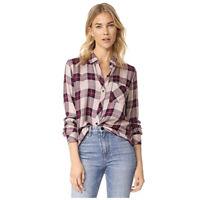 RAILS Women Red Cream Hunter Plaid Button Down Shirt Medium $158