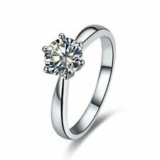 ENGAGEMENT RING  zirconia 925 Sterling Silver perfect Gift!! A lot of sizes