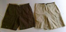 NWT TWO PAIRS of Men's St John's Bay Cargo Shorts Size 36 Canvas, Khaki