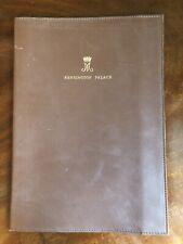 Royal Provenance HRH Princess Margaret Kensington Palace Leather Folder Crown