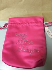 "VICTORIA'S SECRET PINK/ RHINESTONES ""SEXY LITTLE THINGS"" SATIN POUCH ""NEW"""