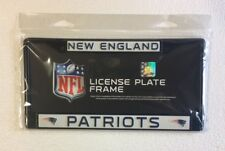 New England Patriots Metal License Plate Frame - Car Auto Tag Holder - NEW Black