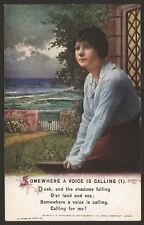 """Bamforth 2 Song Card Set """"Somewhere a Voice is Calling You""""  Series No. 4975"""